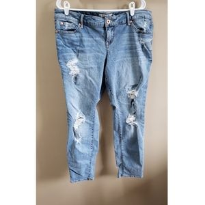 Torrid Ripped Cropped Jeans - size 14S
